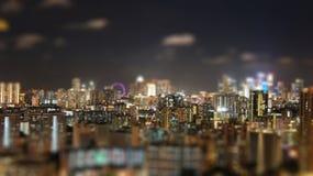 Nuit de Singapour Photographie stock libre de droits