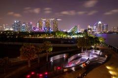 Nuit de Singapour Photo libre de droits