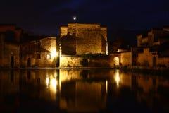Nuit de Slient dans le village photographie stock libre de droits