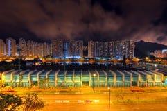 Nuit de stade Image stock
