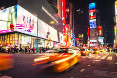 Nuit de Time Square New York photo stock