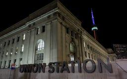 Nuit de Toronto de station des syndicats Image stock