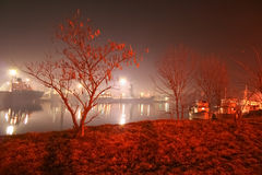 Nuit de Varna Photographie stock