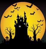 Nuit de Halloween Photos stock