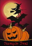 Nuit de Veille de la toussaint avec la sorcière Image stock