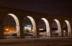 Nuit de Veliky Novgorod Images libres de droits