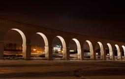 Nuit de Veliky Novgorod Photographie stock libre de droits