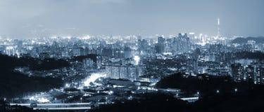 nuit de ville Photographie stock libre de droits