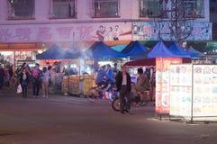 Nuit de ville dans la campagne de la Chine Image libre de droits