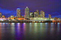 Nuit de ville de Brisbane Image stock