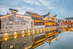 Nuit de ville de dangkou de Wuxi Images stock