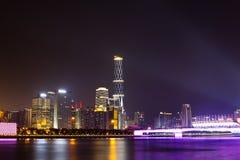 Nuit de ville de Guangzhou Photos stock