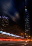 Nuit de ville de Taïpeh Images libres de droits
