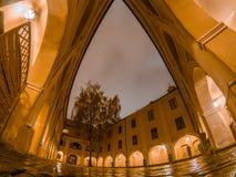 nuit de ville vieille vilnius image stock
