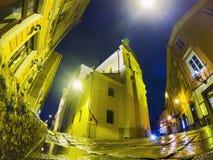 nuit de ville vieille vilnius photos stock