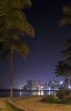 Nuit de Waikiki Photographie stock libre de droits