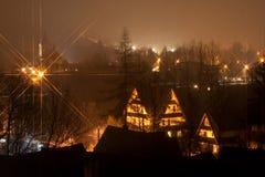 Nuit de Zakopane, Pologne, Tatra Photos libres de droits