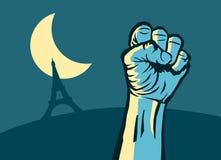 Nuit Debout Imagem de Stock
