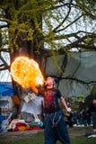 'Nuit Debout' o 'notte stante' de la Republique sul posto Fotografia Stock