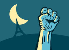 Nuit Debout Stock Image