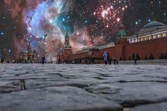 Nuit des sanctions au-dessus de la Russie Photo stock