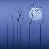 Nuit effrayante illustration stock