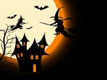Nuit effrayante de Halloween Photographie stock libre de droits