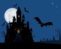 Nuit effrayante de Veille de la toussaint illustration de vecteur