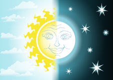 Nuit et jour illustration stock