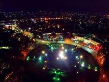 Nuit et lumière de ville Images libres de droits