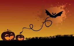 Nuit fantasmagorique de veille de la toussaint illustration de vecteur