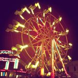 Nuit Ferris Wheel Photos stock