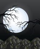 Nuit foncée Forest Background de mystère illustration libre de droits