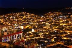 Nuit Guanajuato Mexique d'Alhondiga de Granaditas Overlook photographie stock libre de droits