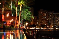 Nuit Hawaï légère Photos libres de droits
