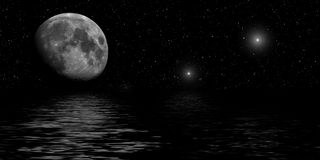 Nuit illuminée par les étoiles Photos stock