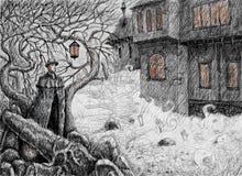 Nuit irlandaise à la veille de Samhain illustration stock