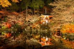 Nuit Kyoto de temple de Daigoji photo libre de droits