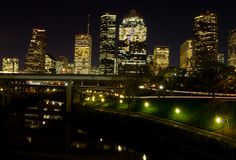 nuit le Texas de Houston Photographie stock libre de droits