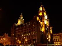 Nuit Liverpool Photographie stock libre de droits