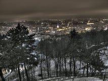 Nuit Lvov Photographie stock libre de droits
