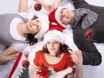 Nuit magique de Noël Images libres de droits