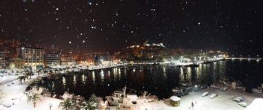 Nuit majestueuse de neige Photographie stock libre de droits