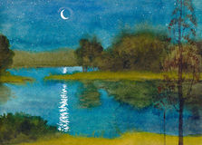 Nuit moonlit tranquille Image stock