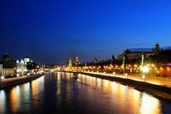 Nuit Moscou Photos libres de droits