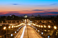 Nuit Moscou Photographie stock