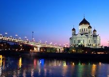Nuit Moscou Photo libre de droits