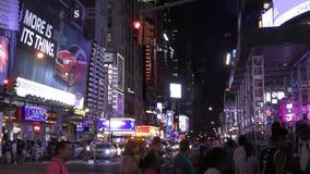 Nuit New York City dans 4K clips vidéos
