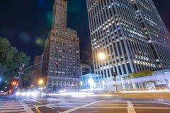 Nuit New York Lumières de ville la nuit à New York photos libres de droits