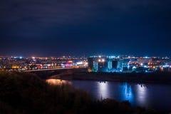 Nuit Nizny Novgorod Photographie stock libre de droits